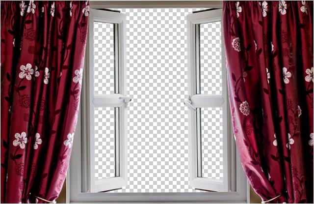 Окно с вырезанным фоном