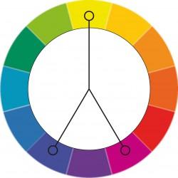 Цветовой круг - Раздельная дополнительная схема