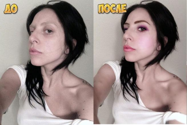 Как нанести макияж в фотошопе до и после