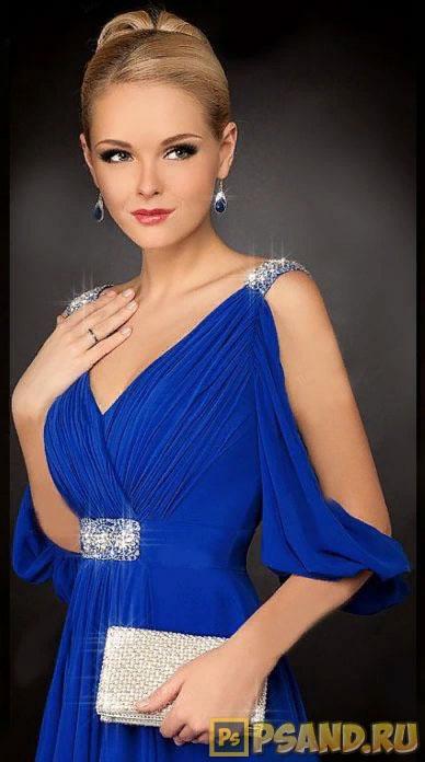 Синий цвет одежды на фото