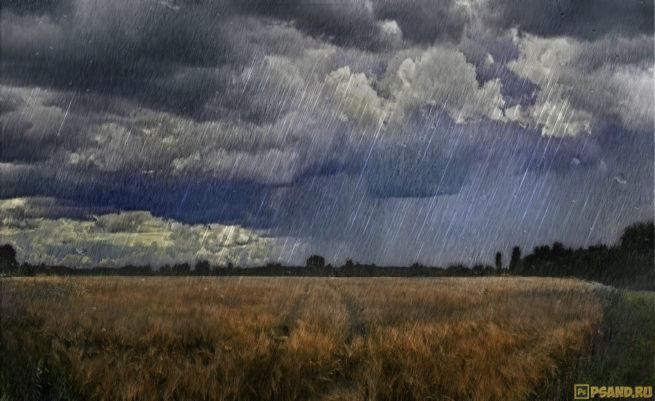 Эффект дождя на фотографии с помощью фотошопа