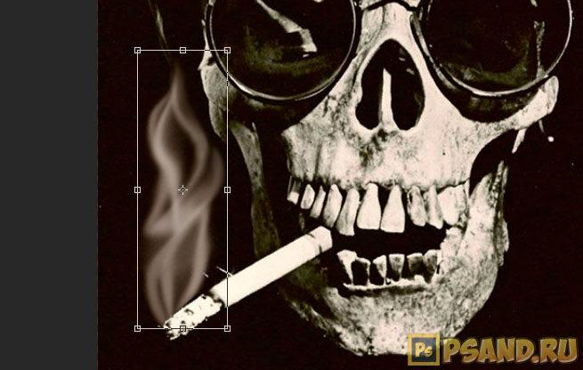 Изменение ширины дыма