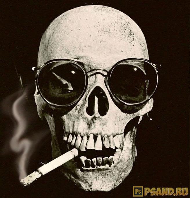 Результат третьего способа создания дыма в фотошопе